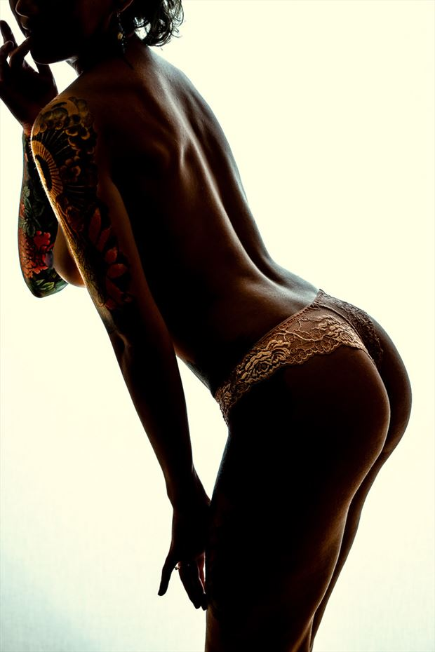 ink and undies artistic nude photo by photographer len cook