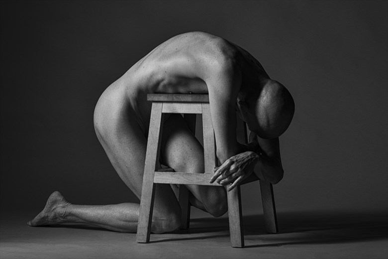 instead of sitting Artistic Nude Photo by Model Lars