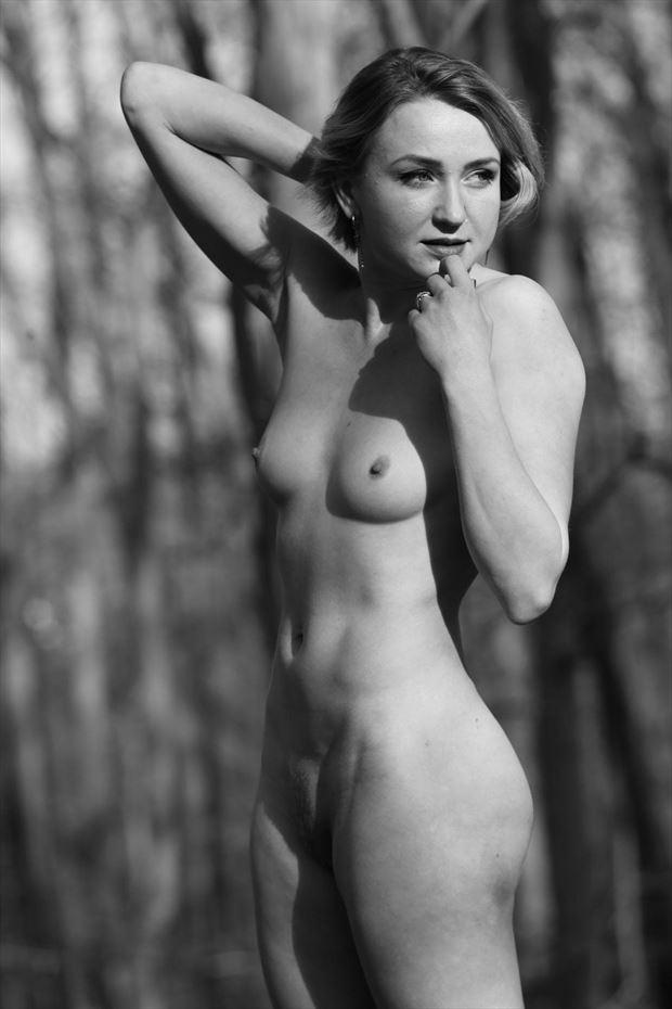 into the wild artistic nude photo by model cali laine