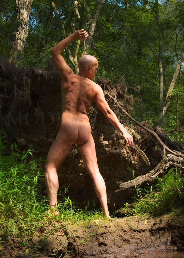 into the wood artistic nude photo by model avid light