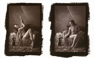 ivory flame diptych artistic nude photo by photographer lawrencesview
