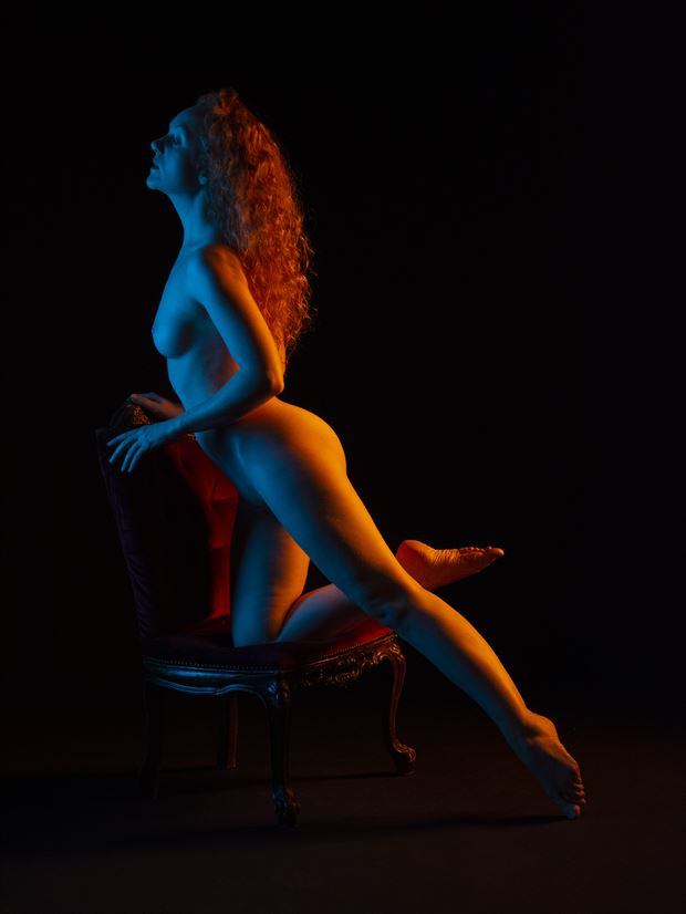 ivory flame on a chair artistic nude artwork by photographer clicker 22