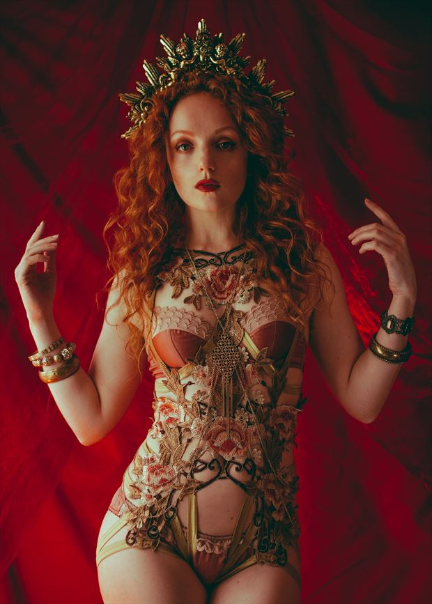 ivory flame red queen lingerie photo by photographer jhp