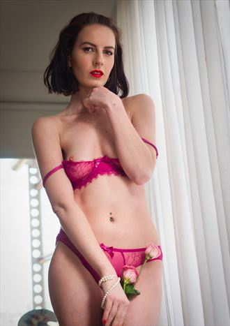 ivy rose in rose lingerie artistic nude photo by photographer pgl05