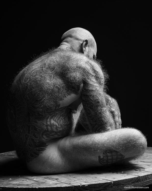 jack dixon seated artistic nude photo by photographer david clifton strawn