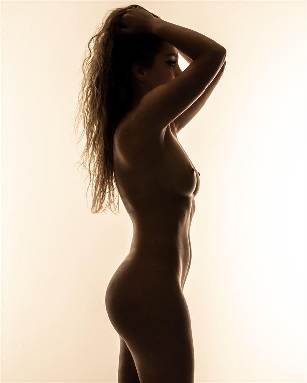 jackie silhouette color artistic nude photo by photographer darkherophotos