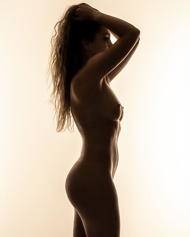 jackie silhouette color artistic nude photo by photographer darkherophotos