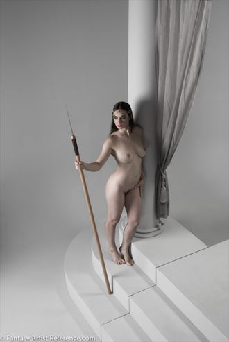 january in a fantasy art pose artistic nude photo by photographer xenophoto