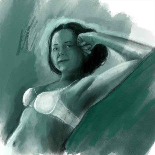 jennifer 2 close up artwork by artist nick kozis