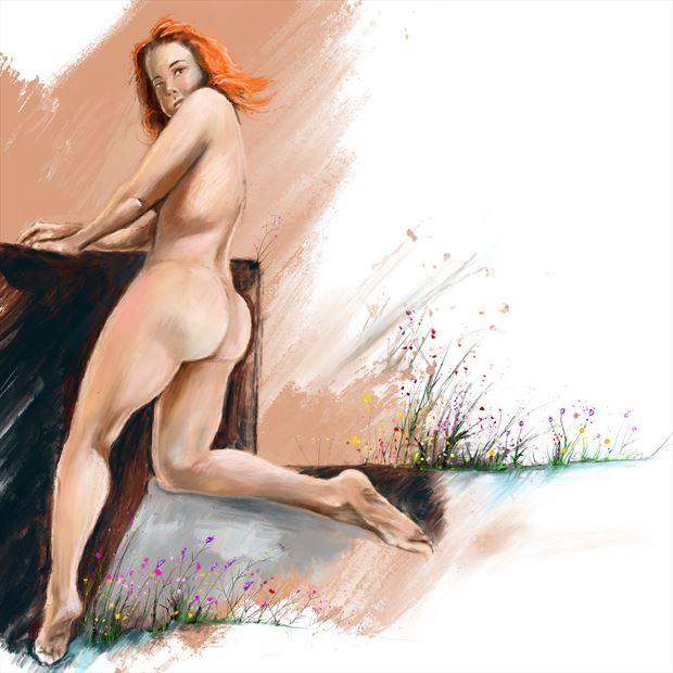 jennifer in the spring fantasy artwork by artist nick kozis