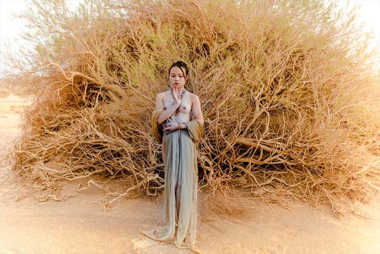 jill at gobi desert artistic nude photo by photographer john ouyang