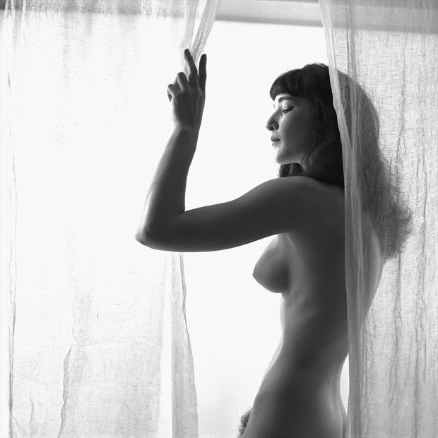 joan in white 1956 artistic nude photo by artist jean jacques andre
