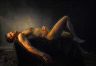 johnny reclined artistic nude artwork by photographer dan simoneau