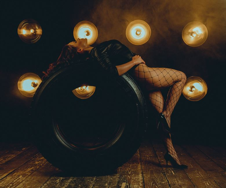 july romanova tyre lingerie photo by photographer jhp