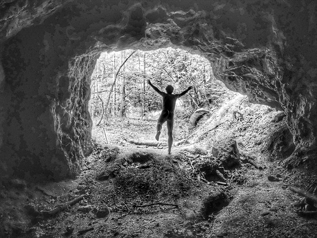 jump from cave Artistic Nude Photo by Model Naked Freedom