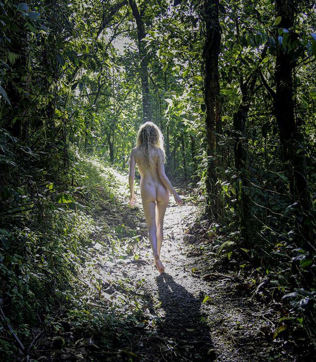 jungle stroll artistic nude photo by photographer danwarnerphotography