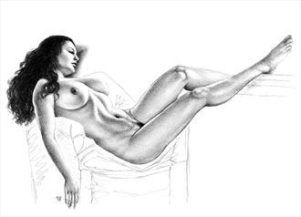 just chillin artistic nude artwork by artist subhankar biswas