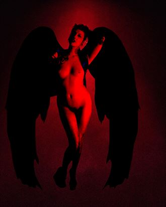 justine demon alternative model artwork by photographer studio5graphics