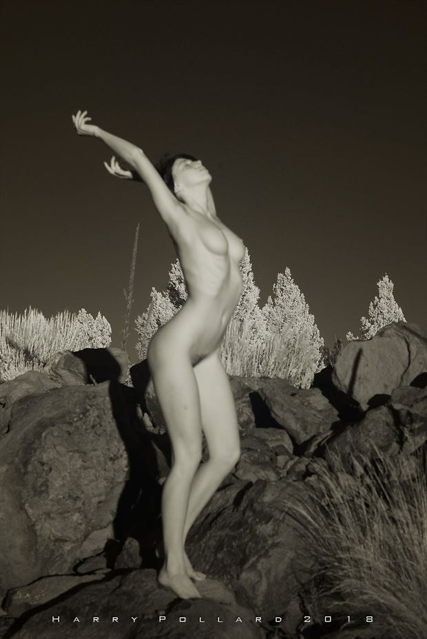 kat on boulders artistic nude photo by photographer shootist