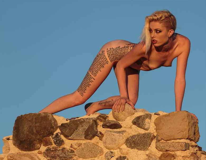 kat on the wall artistic nude photo by photographer darth slr