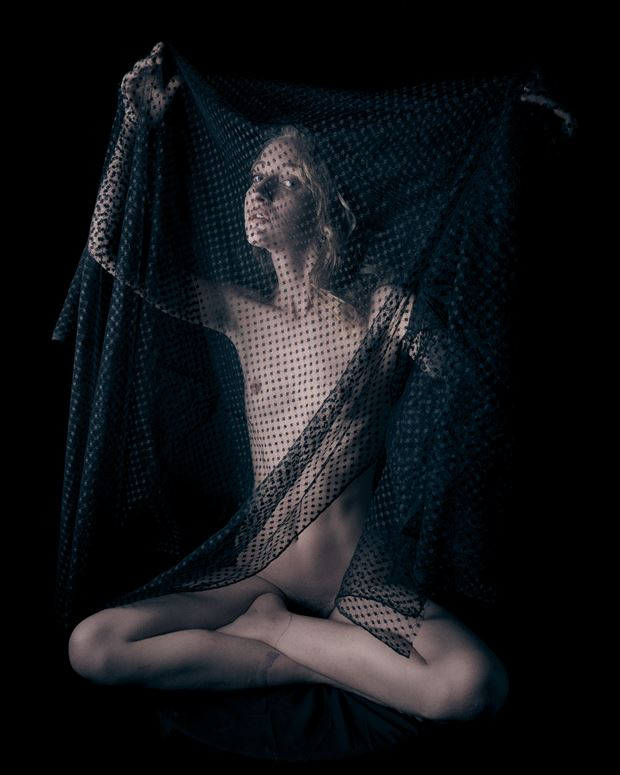 kate and black lace artistic nude photo by photographer jefflamarche