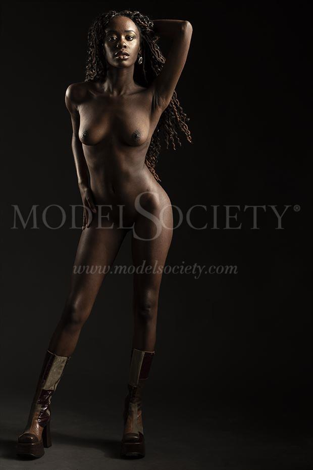 kayla in boots artistic nude photo by photographer depa kote