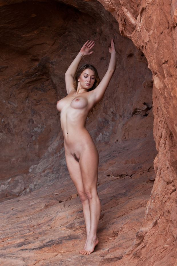 kayla red cave artistic nude photo by photographer eric212