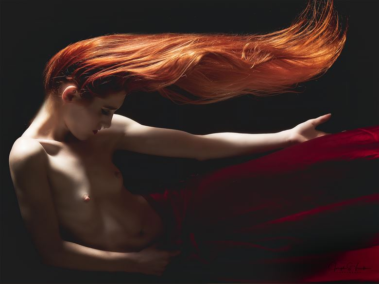 keeley in the red gown artistic nude photo by photographer jsvimages