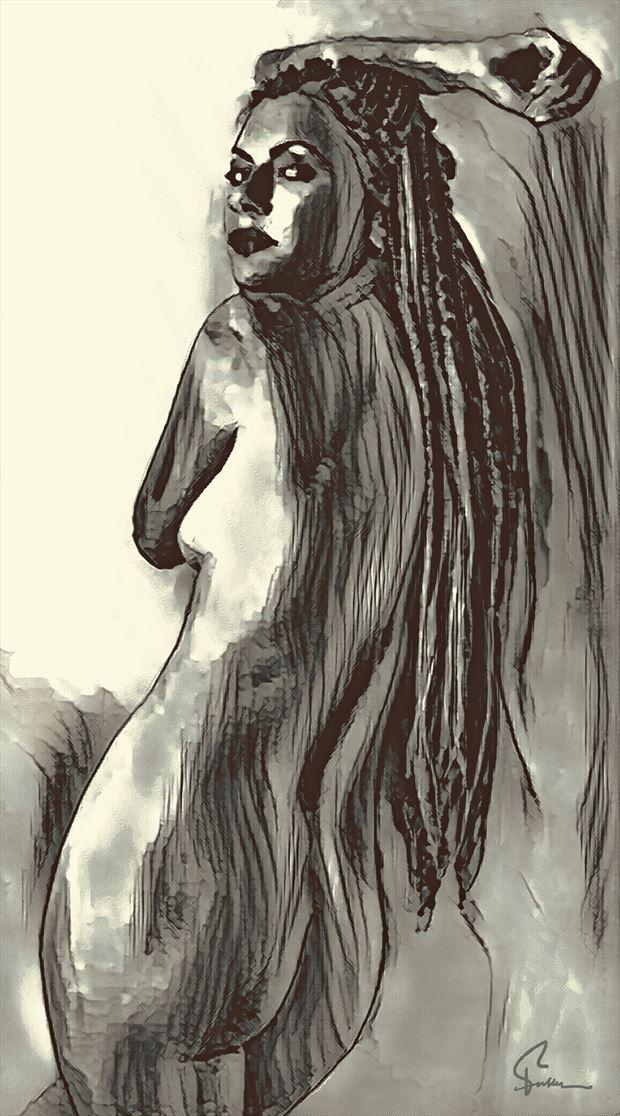 kseniia artistic nude artwork by artist van evan fuller