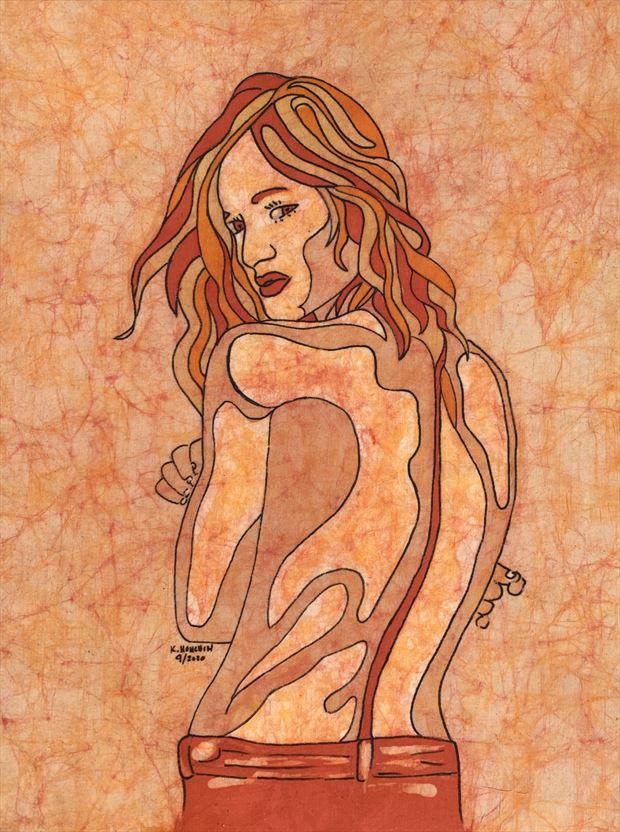 kyra mirage 1 implied nude artwork by artist kevin houchin