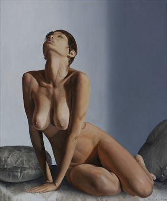 la caresse de l instant artistic nude artwork by artist jean pierre leclercq