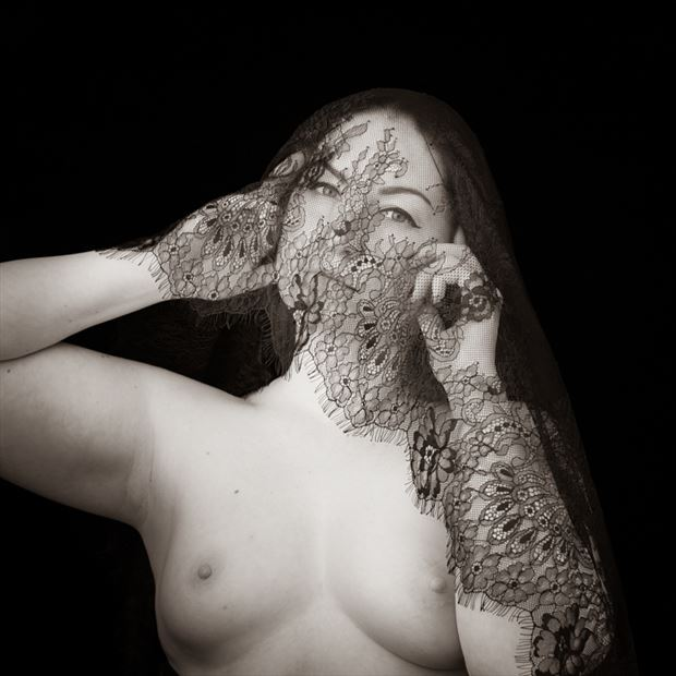 lace artistic nude photo by photographer gregory holden