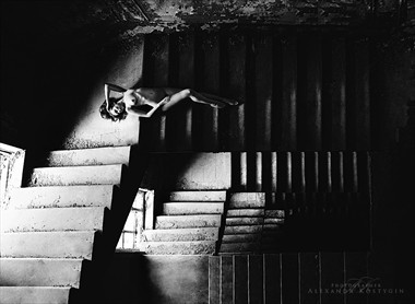 ladder Artistic Nude Artwork by Photographer Alexandr  Kostygin