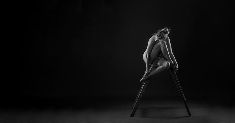 ladder artistic nude photo by photographer paul brady