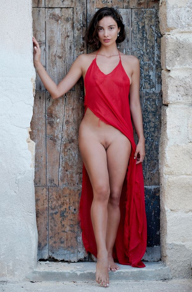 lady in red sensual photo by photographer stromephoto