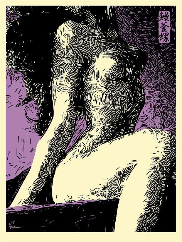 lady lavender artistic nude artwork by artist van evan fuller