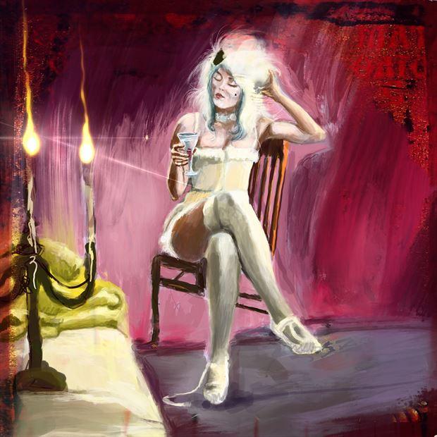 lady mozart 1 lingerie artwork by artist nick kozis