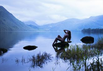 lady of the lake artistic nude photo by photographer mick egan