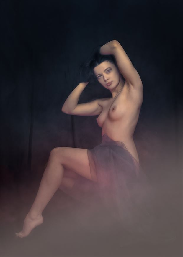 lady of the woods artistic nude photo by photographer colin dixon