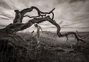 lament for a fallen oak artistic nude photo by photographer randall hobbet