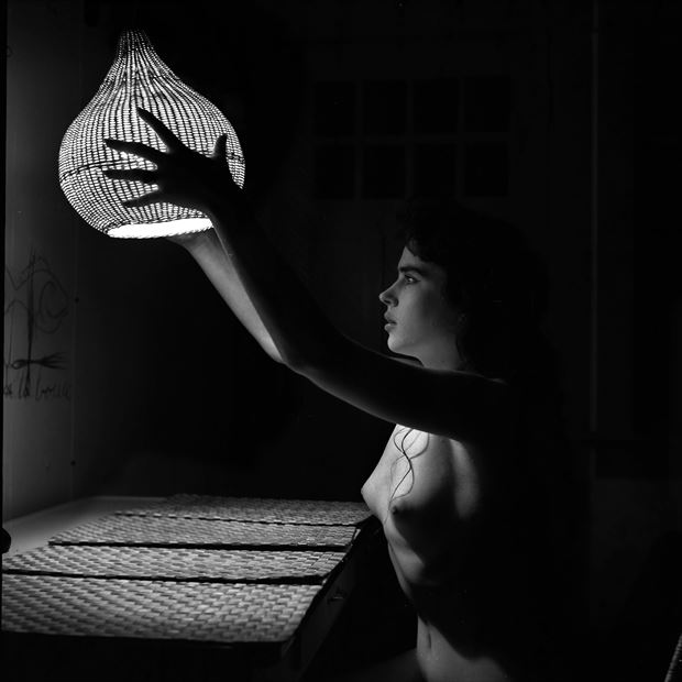 lamp shade 1956 vintage style photo by artist jean jacques andre