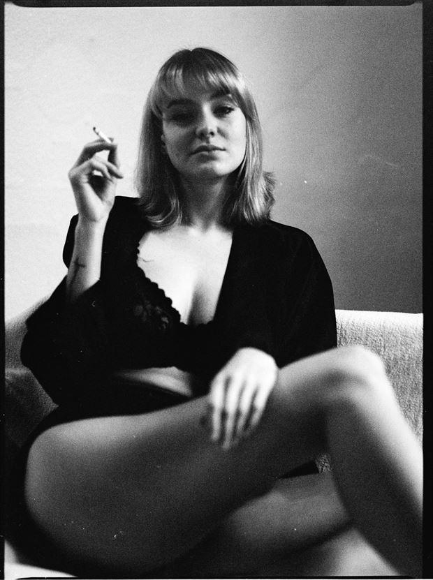 lani smokes lingerie photo by photographer marcvonmartial