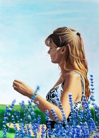 lavandes portrait artwork by artist jean pierre leclercq
