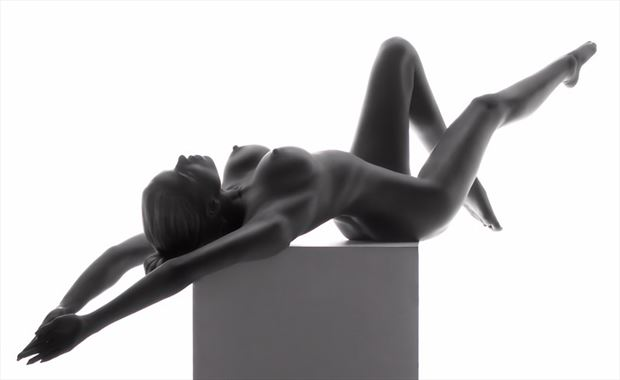 lean back artistic nude artwork by model leggykelly