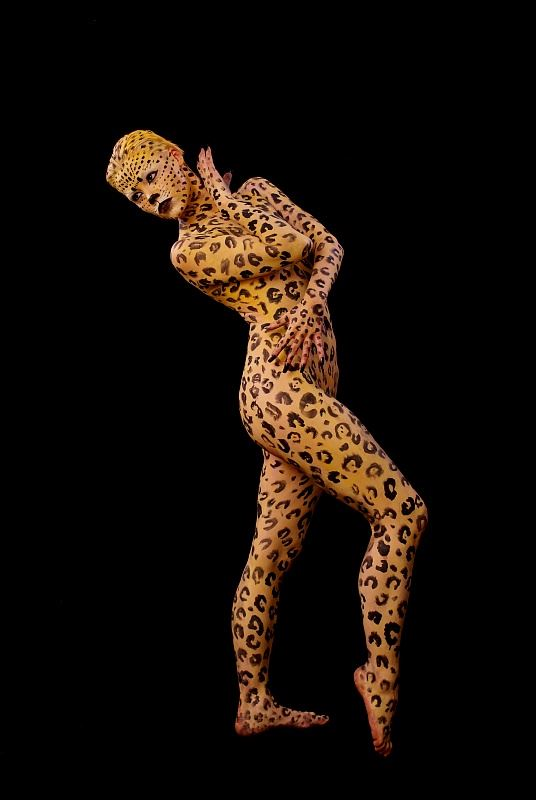 leopard lady artistic nude photo by photographer anders bildmakare