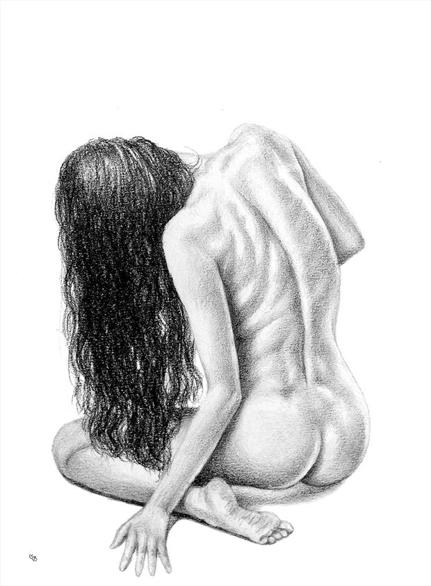 let your hair down artistic nude artwork by artist subhankar biswas