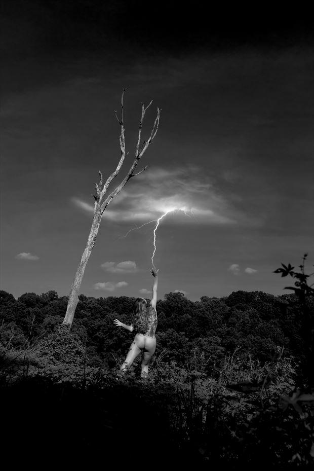 lightning strike surreal photo by photographer linda hollinger