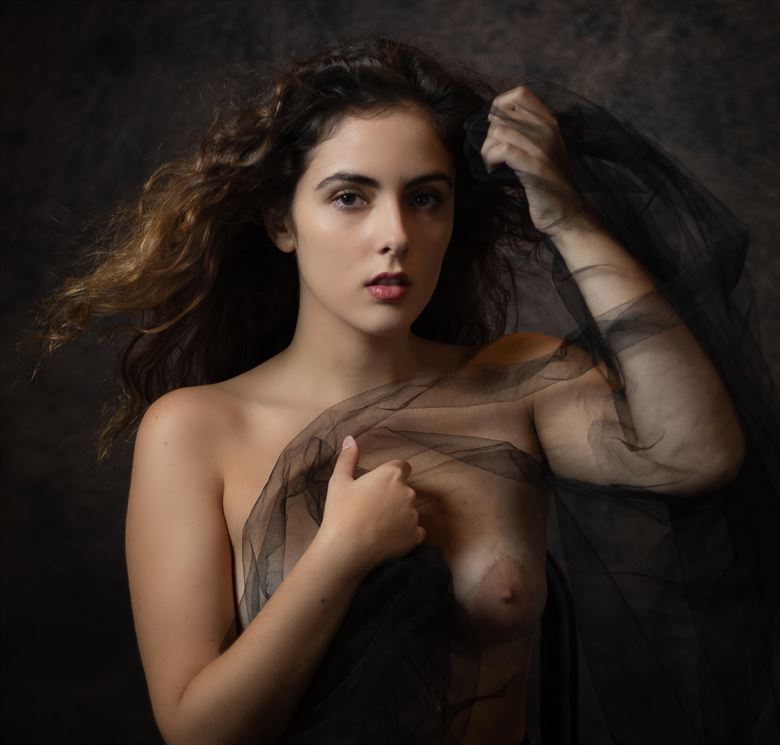 lina with black veil artistic nude photo by photographer thatzkatz