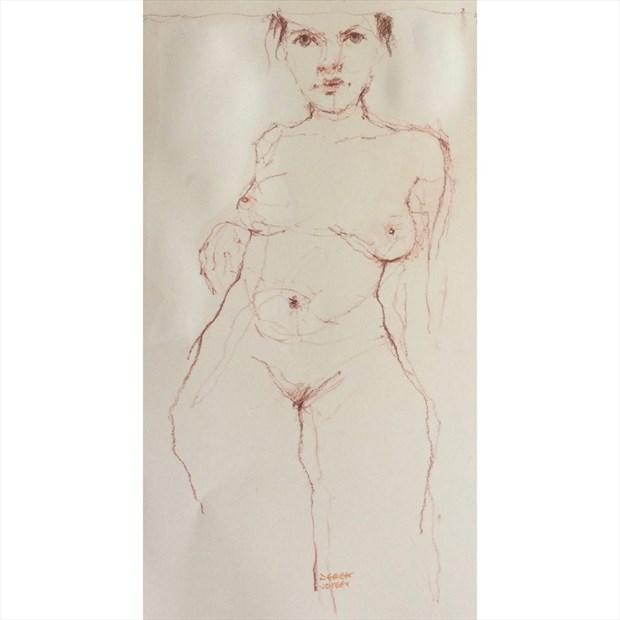 line Artistic Nude Artwork by Artist JonD