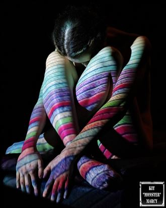 lines artistic nude photo by model ahna green
